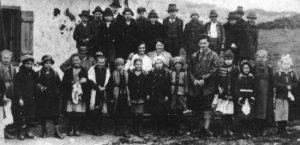 Ludwig Wittgenstein with his school class in Lower Austria, 1922-24.